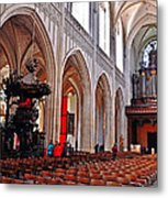 Nave Of The Church Of Our Lady Metal Print