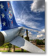 Navy A-7 Fighter Static Display Metal Print