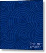 Navy Blue Abstract Metal Print