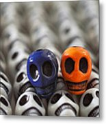 Navy Blue And Orange Metal Print