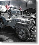 Navy Jeep Metal Print