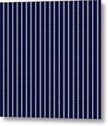 Navy Pinstripe 1 Metal Print