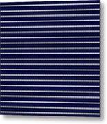 Navy Pinstripe 2 Metal Print