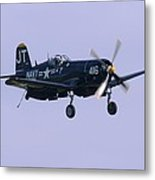 Navy Plane Metal Print