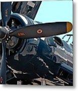 Navy Props Metal Print