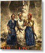 Nazi War Propaganda Poster Metal Print