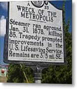 Nc-a33 Wreck Of The Metropolis Metal Print