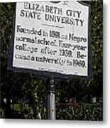Nc-a37 Elizabeth City State University Metal Print