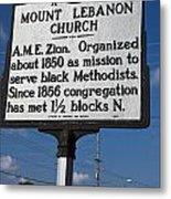 Nc-a43 Mount Lebanon Church Metal Print