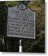 Nc-b1 First English Colonies Metal Print