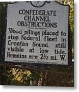 Nc-bbb3 Confederate Channel Obstructions Metal Print