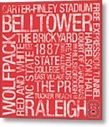 Nc State College Colors Subway Art Metal Print