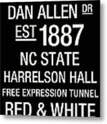 Nc State College Town Wall Art Metal Print