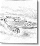 Ncc-1701 Enterprise Metal Print