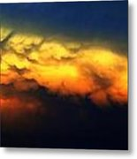 Nebraska Mammatus Sunset Metal Print