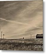 An Abandoned Nebraska Barn Metal Print