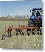 Nebraska Wheat Field Metal Print