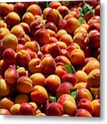 Nectarines For Sale At Weekly Market Metal Print