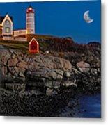 Neddick Lighthouse Metal Print