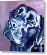 Need Help With That? Black Lab Metal Print