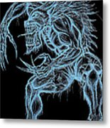 Negative Werewolf Metal Print by Michael Mestas