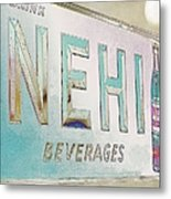 Nehi Ice Cold Beverages Sign Metal Print