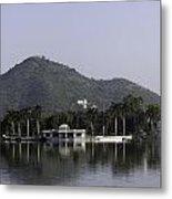 Nehru Garden In The Fateh Sagar Lake In Udaipur Metal Print