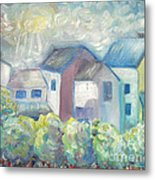 Neighborhood In Light Metal Print