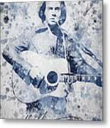 Neil Diamond Portrait Metal Print by Aged Pixel