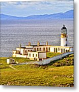 Neist Point Lighthouse Isle Of Skye Metal Print