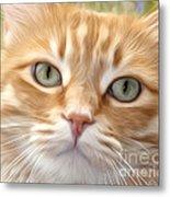 Yellow Cat Digital Art Metal Print