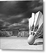 Nelson Akins Art Museum In Infrared Metal Print