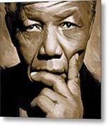 Nelson Mandela Artwork Metal Print