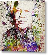 Nelson Mandela In Color Metal Print