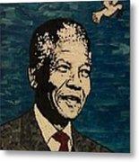 Nelson Mandela Man Of Peace Metal Print