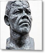 Nelson Mandela Statue Metal Print