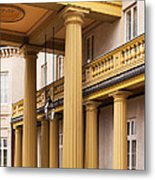 Neo Classical Columns Metal Print by Barbara McMahon