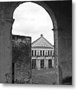 Neoclassical Storehouse And Arch Yaxcopoil Mexico Metal Print