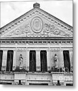 Neoclassical Storehouse Facade Yaxcopoil Mexico Metal Print