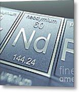 Neodymium Chemical Element Metal Print