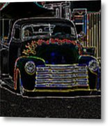 Neon 1948 Chevy Pickup Metal Print by Steve McKinzie