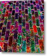 Neon Brick Metal Print