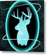 Neon Buck Metal Print