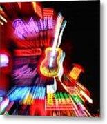 Neon Burst In Downtown Nashville Metal Print by Dan Sproul