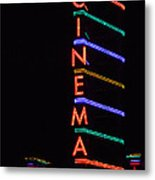 Neon Cinema Metal Print