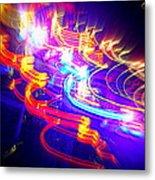 Neon Explosion Metal Print