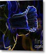 Neon Flowers Metal Print
