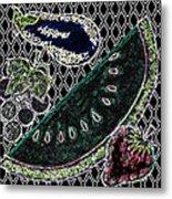 Neon Fruit Metal Print by Bennett Berkowitz