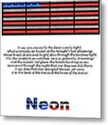 Neon Glory Metal Print by John Farnan
