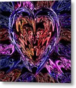 Neon Heart Metal Print by Anthony Bean